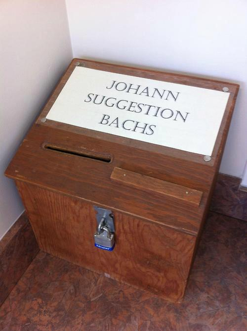 Suggestion Bach