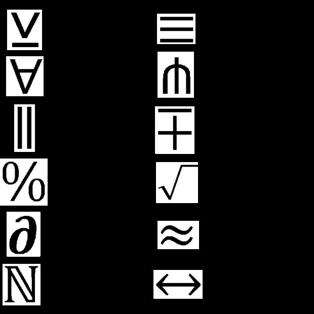 Math Symbols Eigenblogger